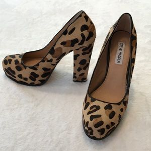 Steve Madden Sarina Leopard Pony Hair Pinup Pumps